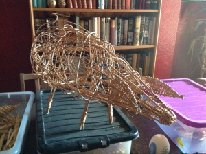 The finished article! A Willow Pig